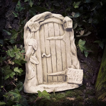 Image of Fairy Door Stone Ornament With Sign