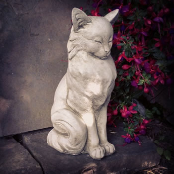 Image of Content Cat Stone Ornament