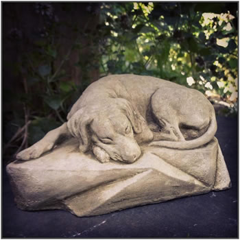 Image of Sleeping Dog Stone Ornament