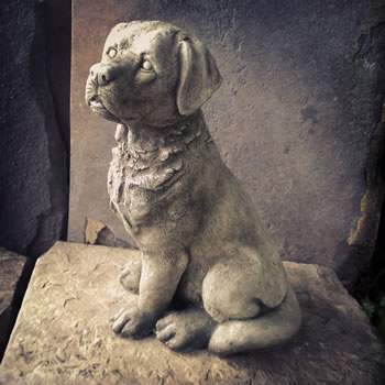 Image of Sitting Labrador Stone Ornament