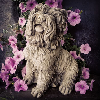 Image of Sitting Terrier Stone Ornament