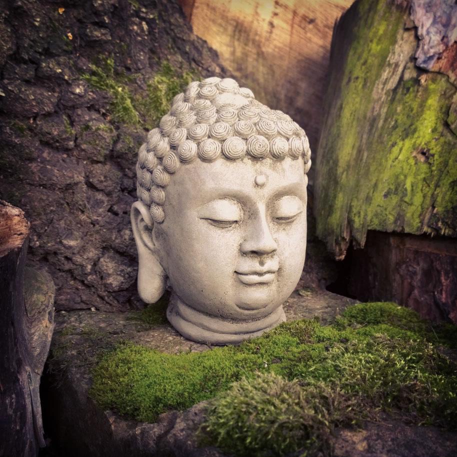 Small Stone Buddha Head Ornament 163 24 99 Garden4less Uk