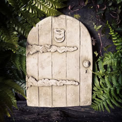 Small Image of Fairy Door Stone Ornament