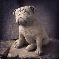 Small Image of Bulldog Stone Garden Ornament