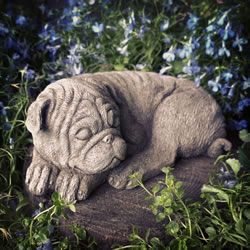 Small Image of Pug Stone Ornament