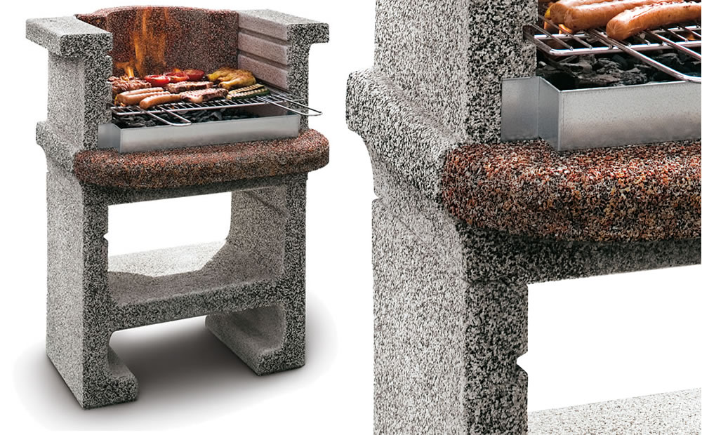 Palazzetti masonry barbecue tebe at garden4less uk for Deep pit bbq construction
