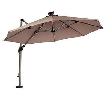 Image of Hartman Garden Cantilever Parasol 3m with LED light - Caramel/Champagne