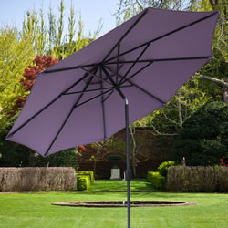 Small Image of Elizabeth 2.2m Garden Parasol - Blackberry/Anthracite