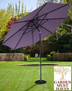 Image of Elizabeth 2.2m Garden Parasol - Blackberry/Anthracite