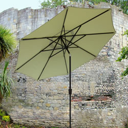 Small Image of Elizabeth 3.0m Garden Parasol - Pistachio/Brown