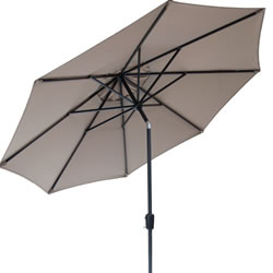Small Image of Elizabeth 2.7m Garden Parasol - Taupe/Anthracite