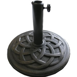 Small Image of Celtic 9kg Round Parasol Base  - Bronze Effect