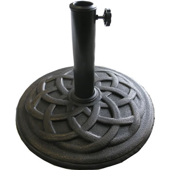 Image of Celtic 9kg Round Parasol Base  - Bronze Effect