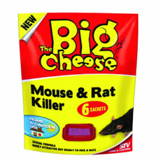Image of Big Cheese Mouse & Rat Killer - 6 Sachets