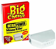 Image of Big Cheese Ultra Power Mouse Killer - Twinpack Bait Box