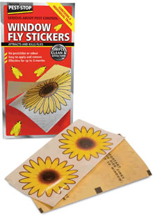 Image of Pest Stop - Window Fly Stickers