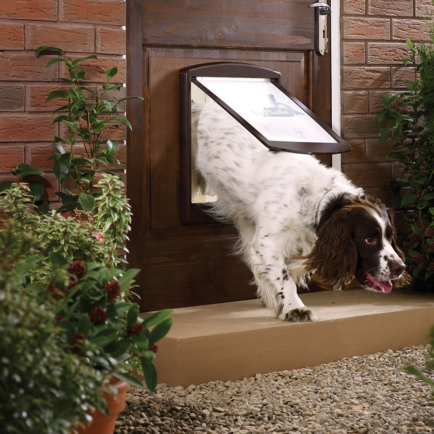 Extra image of Petsafe Staywell Original 2-Way Pet Door - Large Brown