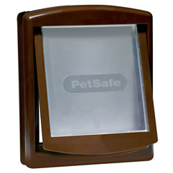 Small Image of Petsafe Staywell Original 2-Way Pet Door - Medium Brown
