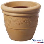 Small Image of Grapes Sandstone Effect Bell Pot Garden Planter - 31cm