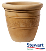 Small Image of Sylvan Sandstone Effect Bell Pot Garden Planter - 48cm