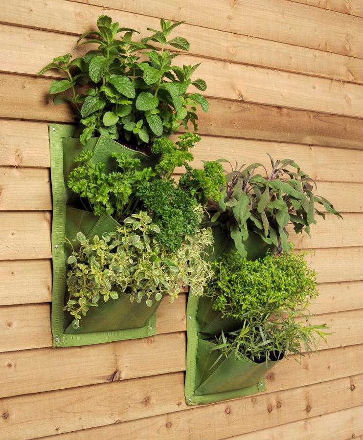 2 vertical planter bags burgon ball green 12 6 for Garden planters uk