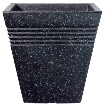 Image of Square Granite Effect Piazza Planter - 34 cm