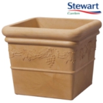 Small Image of Grapes Sandstone Effect Square Garden Planter - 31cm