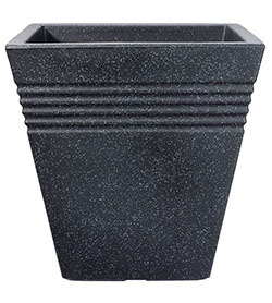 Image of Square Granite Effect Piazza Planter - 40 cm