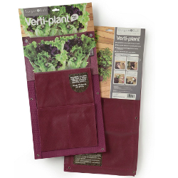 Image of 2 Vertical Planter Bags Burgon & Ball - Aubergine