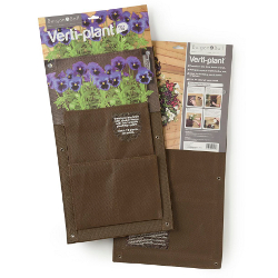 Image of 2x Vertical Planter Bags Burgon & Ball - Brown