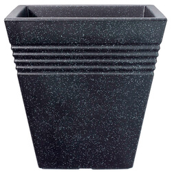 Small Image of Square Granite Effect Piazza Planter - 34 cm