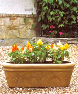 Image of Grapes Sandstone Trough Garden Planter - 80 cm