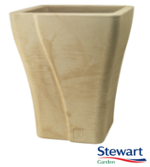 Small Image of Wave Square Garden Planter - Suede Effect