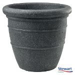Small Image of Sylvan Granite Effect Bell Pot Garden Planter - 48cm