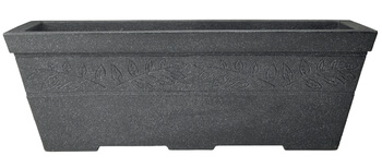 Image of Sylvan Granite Effect Trough Garden Planter - 80 cm