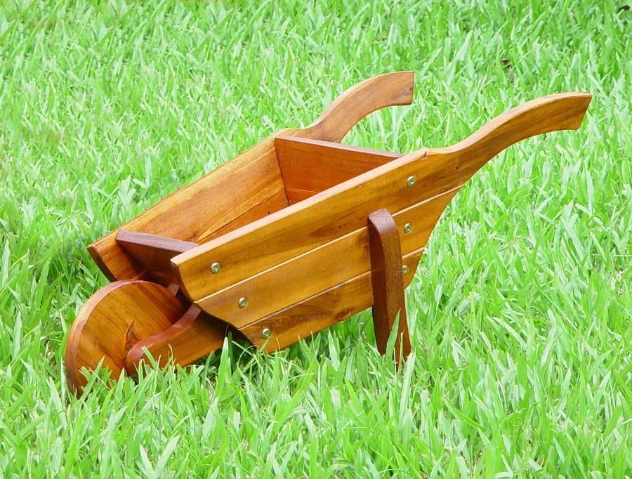 wheelbarrow wooden garden planter garden4less