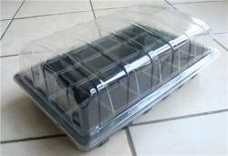 Image of Full-Size Seed Propagator Set: Tray, 15-Cell, Insert, Lid