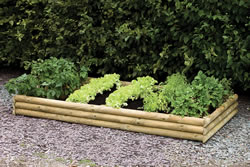 Image of Half Log Raised Bed