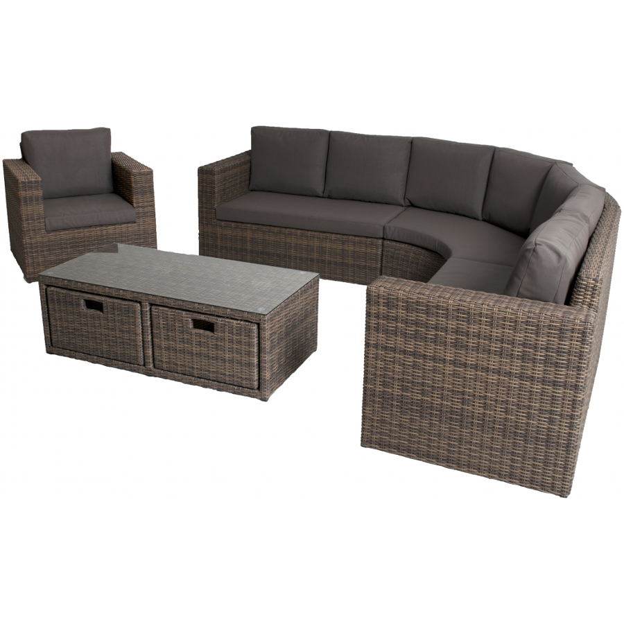 Rattan Corner Sofa Set 7 Seater 1999 Garden4less Uk Shop