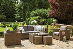 Image of Moray Garden Lounge Set from LIFE - Light Brown/Taupe