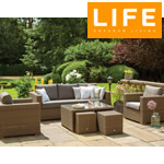 Small Image of Moray Garden Lounge Set from LIFE - Light Brown/Taupe