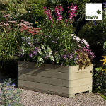 Small Image of Marberry Timber Rectangular Planter