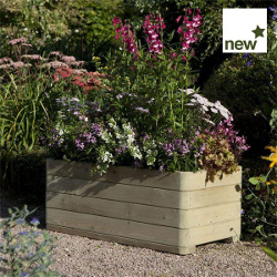 Image of Marberry Timber Rectangular Planter