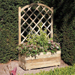 Small Image of Rectangular Timber Planter with Lattice