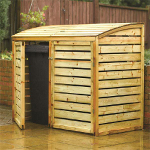 Small Image of Wooden Double Bin Store