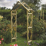Small Image of Rustic Garden Arch