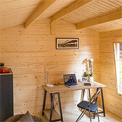 Extra image of Rowlinson Garden Office in a Natural Finish