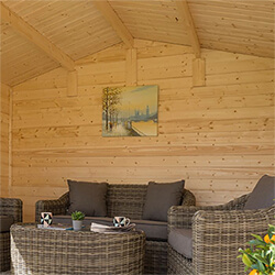 Extra image of Rowlinson Garden Retreat Log Cabin in a Natural Finish
