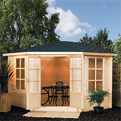 Small Image of Rowlinson Kestrel FSC Wooden Cabin in a Natural Finish