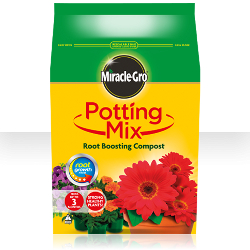 Image of Miracle Gro Potting Mix Root Boosting Compost - 8 litres